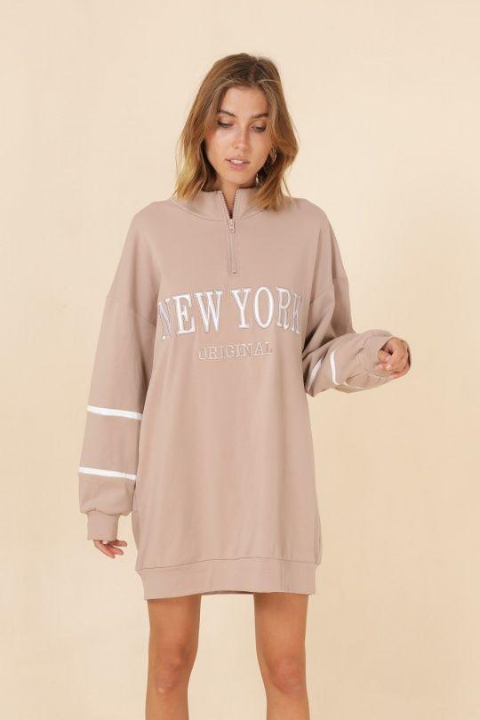 Ellen kjole beige kvinde  V2985