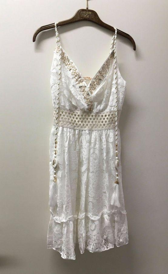 Azaka kjole - hvid - kvinde - AT6215