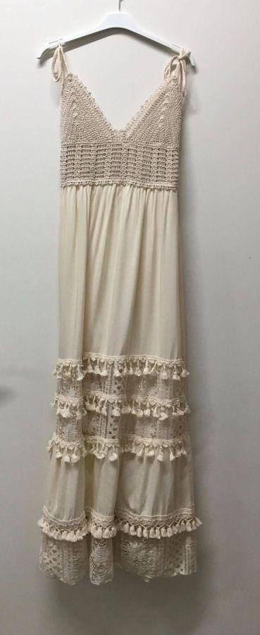 Azaka Anna kjole beige dame 2633