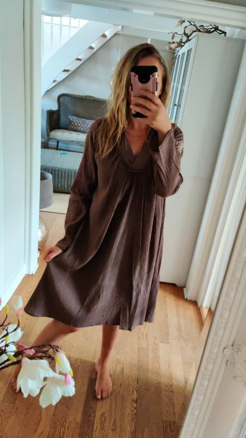 Tina Wodstrup kjole 130b nougat kvinde str small