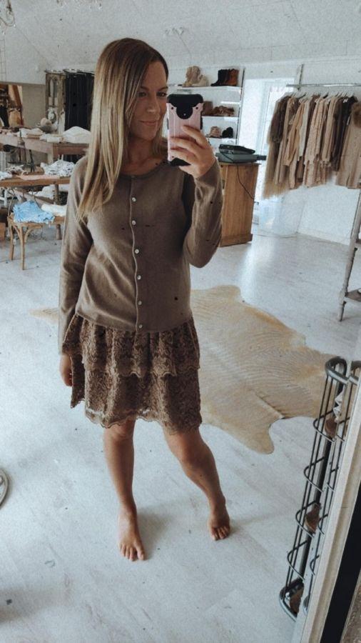 Rosemunde nederdel 6933-830 dark sand kvinde