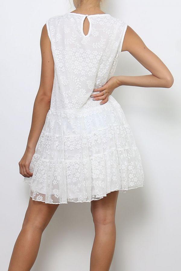 Mille blonde kjole kvinde 80748 hvid