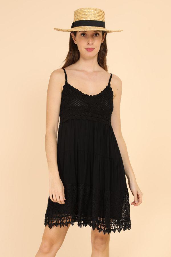 Blonde kjoler - Loona - 7725 - Sort - dame