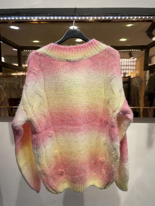 Clara regnbue strik kvinde 90001 gul