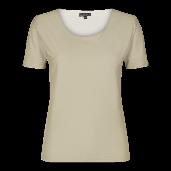 Liberte - Alma slim fit t-shirt - sand - 9552 - dame
