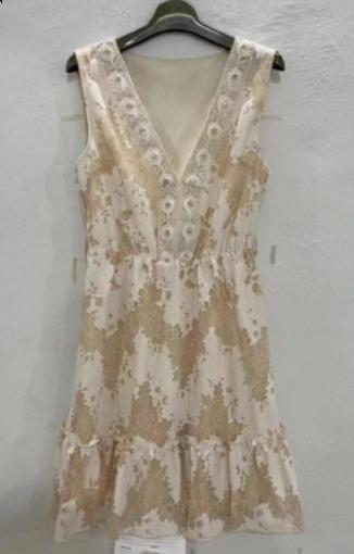 Azaka kjole kvinde beige at6335