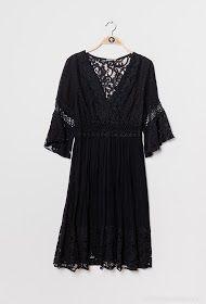 Colina boheme kjole kvinde I223 sort