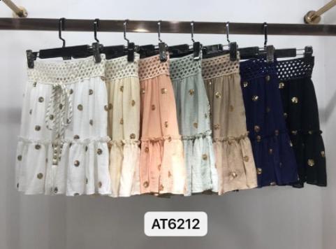 Azaka kort nederdel - sort - kvinde - AT6212