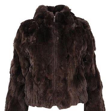 Vicky pelsjakke 175-2767 mørkebrun