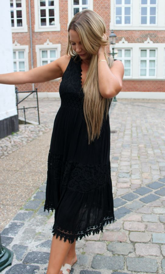 Sandra kjole - Sort