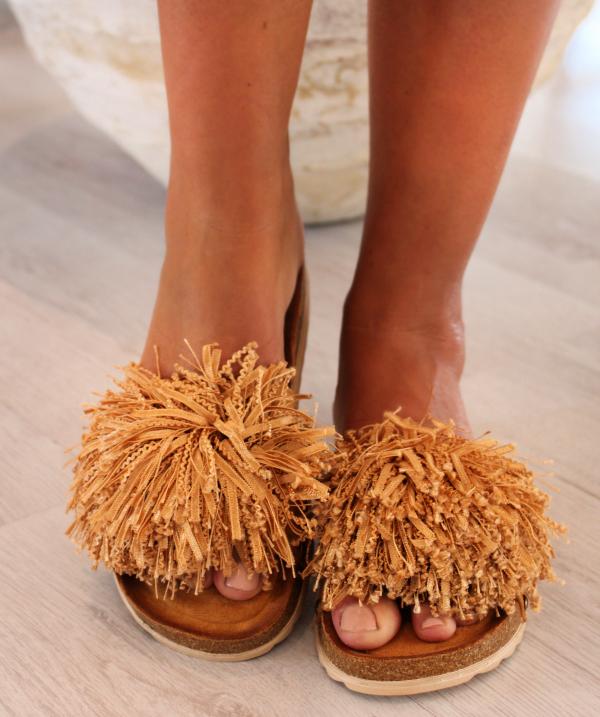 Fluffy sandal - Taupe Fd52