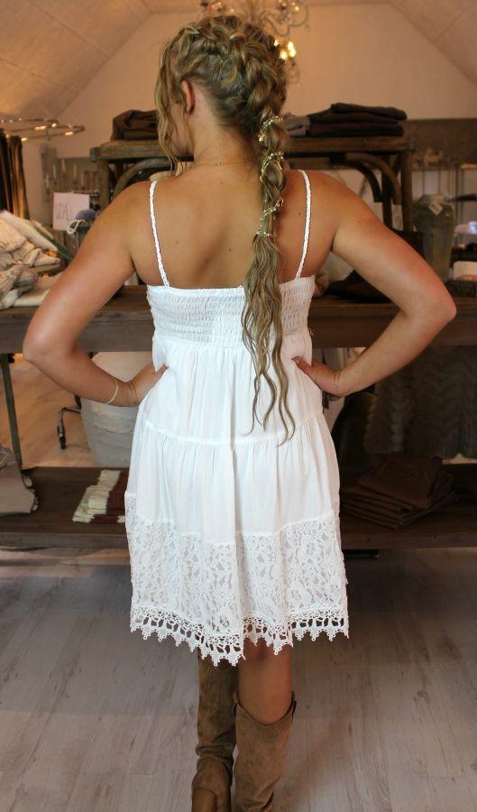 Blonde kjoler - Loona - 7725 - Hvid - dame