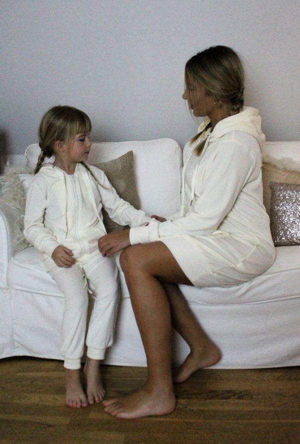 By Baunbaek - Sweateshirt kjole med engle vinger - cream - wj8865