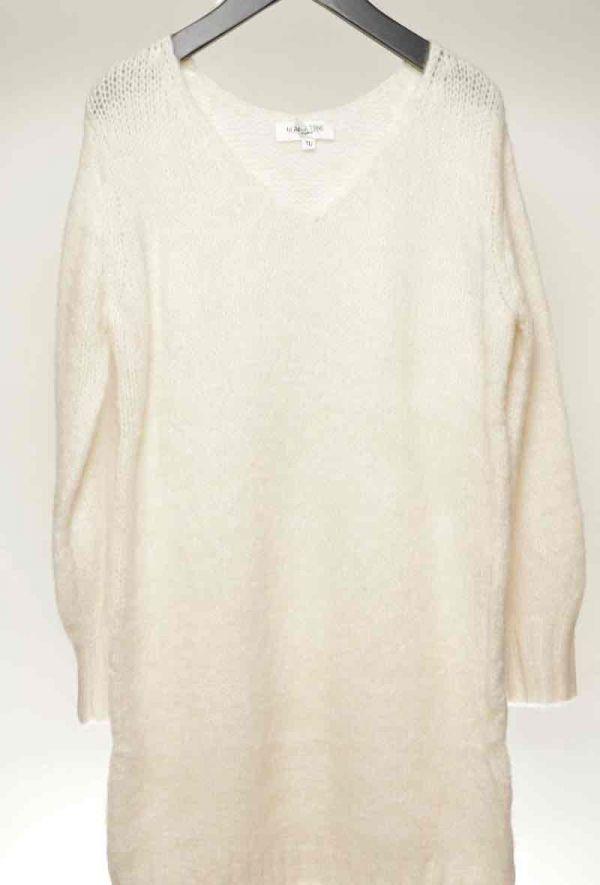 Holly sweater kjole kvinde B013 hvid