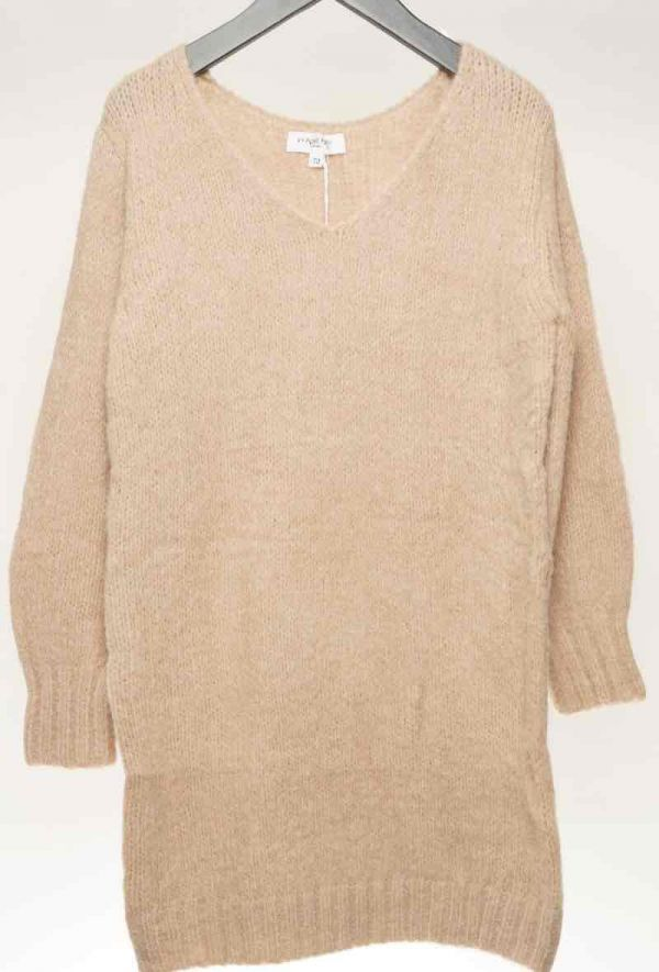 Holly sweater kjole kvinde B013 beige