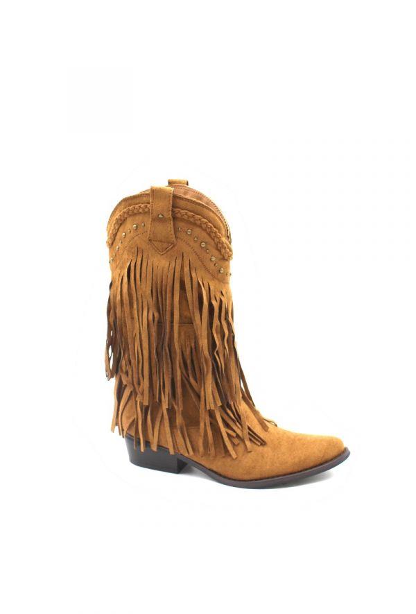 Laura frynsestøvle brun kvinde Y-066