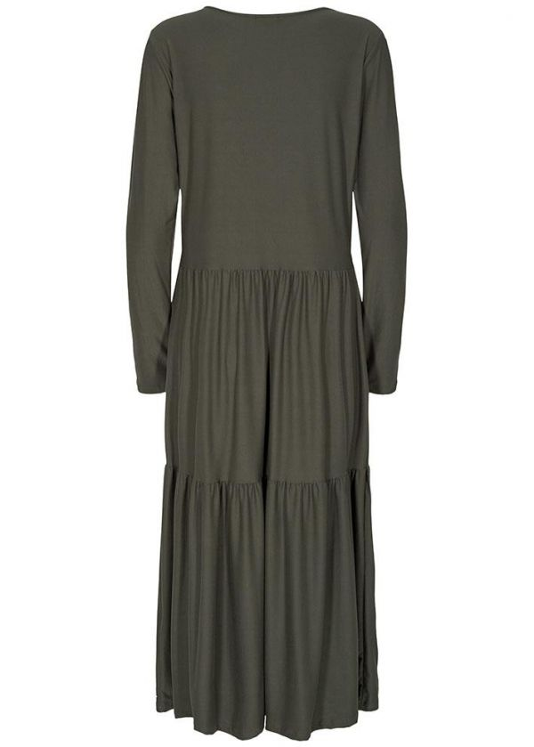 Liberte - Alma Loose dress - 9544 - Olive kjole - dame