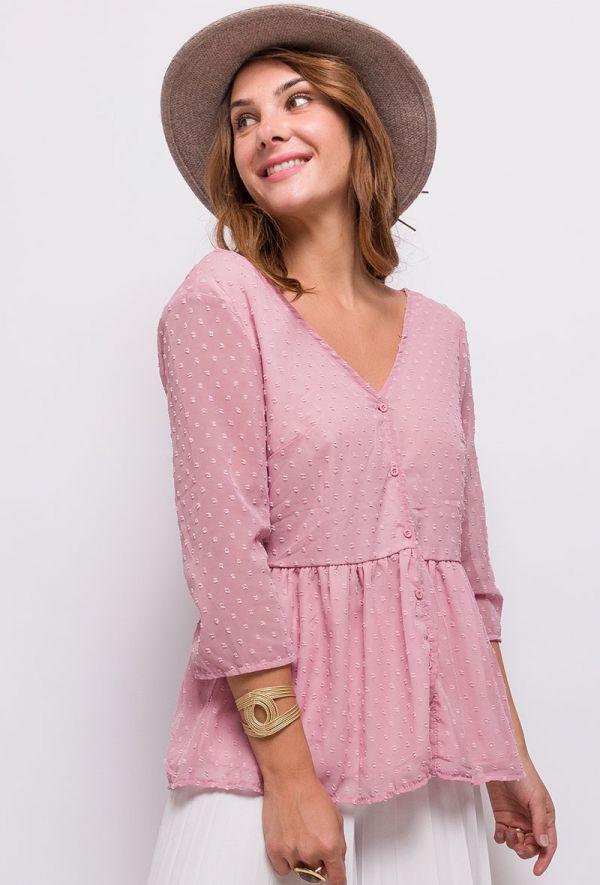 Lilie rose bluse dame 9108 Rosa