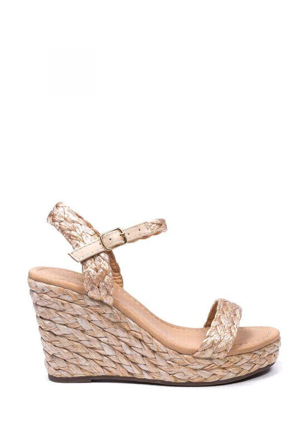 Marq kilehæl sandal - Beige - 3398