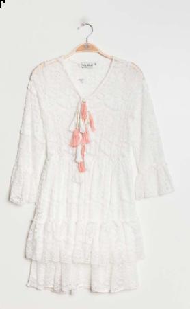 Sabrina boho kjole hvid kvinde HY1007