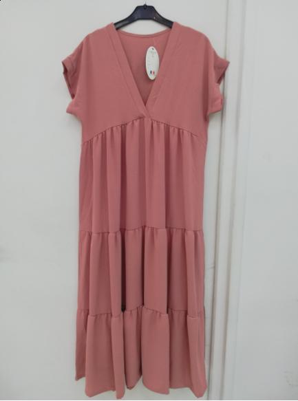 Amanda maxi kjole dame A227 rosa