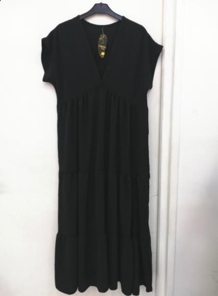 Amanda maxi kjole dame A227 sort