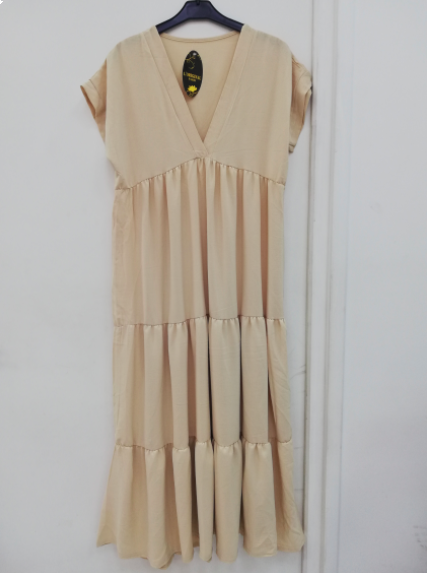 Amanda maxi kjole dame A227 cream