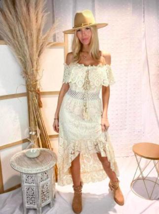 Azaka kjole - dame - at6246 - beige