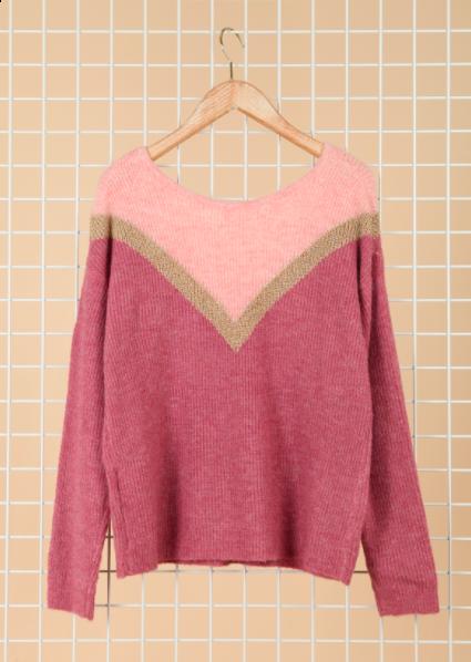 Amora strik trøje rosa kvinde IY20631
